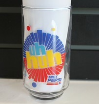 Vintage Diet Pepsi Glasses 12.25 ounce Uh Huh Ray Charles  - $15.46