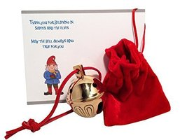 Authentic Golden Brass Sleigh Bell #7 From Santa's Sleigh W Personalized Note Ex