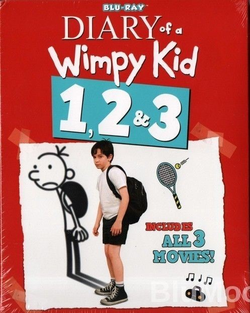 Diary of a Wimpy Kid 1 & 2 & 3 [Blu-ray] New