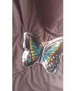 Glass butterfly plate jvc202 - $9.65
