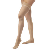 Jobst Ultrasheer 30-40 mmHg Large Natural Thigh High Silicone Dot Band - $93.12