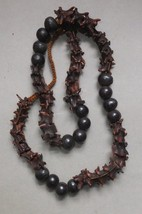 Strand Snake Shaman Necklace Vertebrae Bone RareSeed Beads collectible S... - $327.25