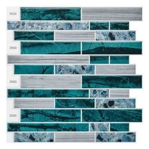 "(Ship from USA)12""x12"" Waterproof Self Adhesive Mosaic Tile Wall Sticker Peel an image 2"