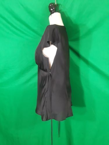 ANN TAYLOR Loft  Black Dress Size 10 100% Polyester