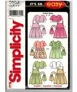 Simplicity It's So Easy Uncut Sewing Pattern #5653 Child's Sundress Jack... - $5.70