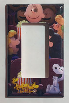 Peanuts Snoopy friends movie theater Light Switch Power Outlet wall Cover Plate image 3
