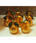 Eight Vintage Look Golden Pear Place Card Holders // Elegant Table / Chr... - $24.00