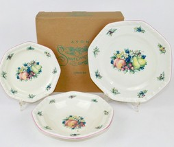 2003 AVON SWEET COUNTRY HARVEST 3PC SET DINNER/SALAD/SOUP PLATE NIB - $29.65