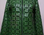 En leather leaf jacket women design 06 genuine short zip up light lightweight xl 1 thumb155 crop