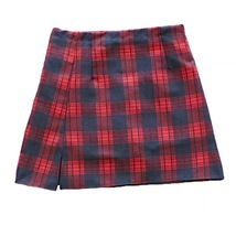 Autumn Short Plaid Skirt Women Girl Campus Style Plaid Skirt - Red Plaid, Petite image 4