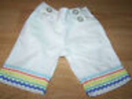Infant Size 6-12 Months Gymboree White Summer Pants Capris Bottoms Ribbo... - $12.00