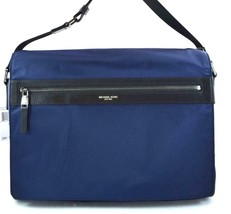 AUTHENTIC NEW NWT MICHAEL KORS $198 KENT BLUE LARGE MESSENGER BAG - $108.00