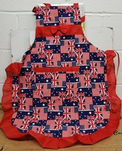 "Fabric Kitchen Apron with pocket, 24""x 30"", GREAT BRITAIN, ENGLAND'S FLA... - $15.83"