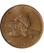 1858 One Cent Flying Eagle ready to ship Fast Expedited, guaranteed refu... - $94,41 MXN