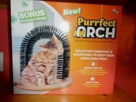 Cat Arch Bristles Self-Groomer Arch Massager Hair Brush Round Comb Scrat... - $10.88