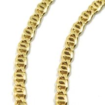 18K YELLOW GOLD CHAIN, 2.5mm, 16 INCHES, FLAT TIGER EYE LINKS, MADE IN ITALY image 3