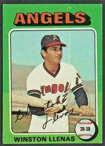 California Angels Winston Llenas 1975 Topps Baseball Card # 597 - $0.50
