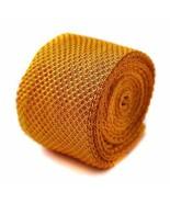 lavorata a maglia Tinta Unita Oro Giallo Cravatta da uomo Frederick Thom... - $24.42
