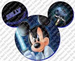 Mickey Mouse Head Jedi Mickey Personalized with Name/Date Disney Iron On... - $4.25