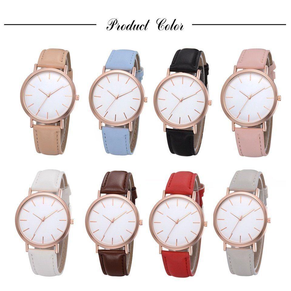 Yuhao® Fashion Women Simple Dial PU Strap Watches Casual Quartz Alloy Ladies
