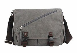 Trendsetter Item/Casual Canvas Messenger&Shoulder Bag/Grey (331232cm)