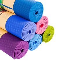 6MM TPE Non-slip Yoga Mats For Fitness Comfortable Yoga Gym Mats Environ... - $33.68+