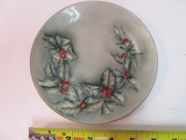 "Limoges France Collectible Plate 1891-1932 Holly Hand Painted 6"" - $38.38"