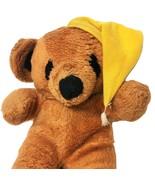 Vintage Interpur Goodnight Teddy Bear Brown Plush Yellow Sleeping Night ... - $29.99