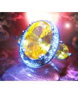 Haunted RING KING OF GOLD MALE DJINN Genie 925 ... - $207.77
