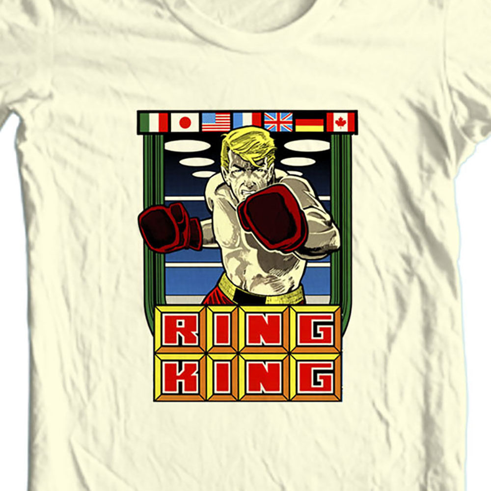 Ring king tshirt vintage retro arcade old school video game natural graphic tee