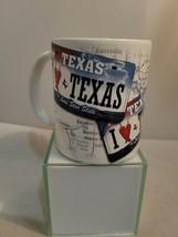 TEXAS license plate texas map  Coffee Mug I ❤ texas coffee mug - $14.95