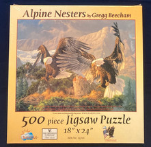 SunsOut puzzle Alpine Nesters 500 pc eagles mountains Gregg Beecham NEW ... - $10.00
