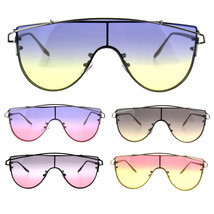 Oceanic Tie Dye Gradient Shield Robotic Futurism Sunglasses - £11.37 GBP