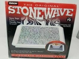 Emson The Original Stonewave Microwave Warming Plate New In The Box Sealed - $29.21