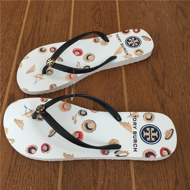 319a9bd159eb9 HOT 2018 TORY BURCH Flip Flops 6 COLOR Flat Flop Beach Sandals 6 7