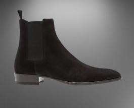 Handmade Men Suede HighAnkle Chelsea Boots image 2