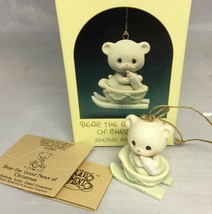 1987 Precious Moments Christmas Ornament Bear the Good News of Christmas... - $8.81