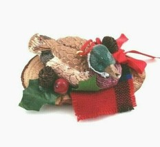 Vintage Duck Decoy Ornament Mallard Resin Christmas Hunting - $19.00