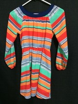 GB Girls Multicolor Long Sleeve Pullover Striped Dress w/ Elastic Waist ... - $3.99