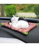 Car Cute Sleeping Mini Cat Simulation Automobile Interior Decoration Gif... - $11.87