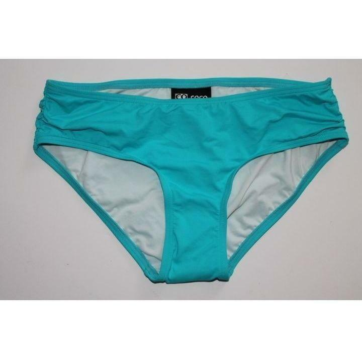 Coco Reef Sea Blue Hipster Side Shirred Bikini Bottoms Small Lined
