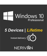 Microsoft Windows 10 Pro / Professional | 5 Devices | Genuine Product key - $27.99