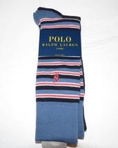 Mens Polo Ralph Lauren 2 pair socks 8957PK Blue Sock Size 10-13 Shoe Size 6-12.5 - $19.05