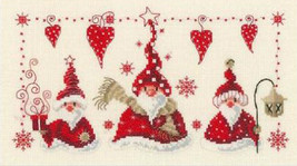 Vervaco Cheerful Santa Counted Cross Stitch Kit 11.5x6.75in, 14ct XMAS C... - $26.99