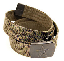 Modern Russian Army Military Uniform Belt with Star Buckle OD Olive - $11.54