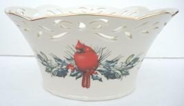 Lenox Winter Greetings Pierced Basket With Original Box - $37.99