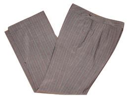 ANN TAYLOR 8P Petites Brown Spriped Career Dress Pants Lined Folded Hem ... - $19.99