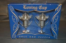 Vintage 1950s LOVING CUP SALT AND PEPPER SHAKERS UNUSED classic MCM MIB - $8.79