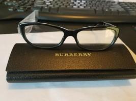 New Burberry B2167 3001 Black Beige RX Eyeglasses Frames 54MM/16/140 Italy. - $98.01