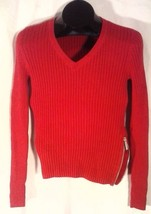 TOMMY HILFIGER WOMEN'S RED STRETCH SHIRT S/P ZIPPERED SIDE, BLEMISH SALE - $9.98